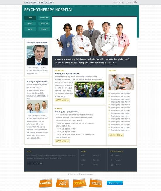 Medical Hospital Website Template