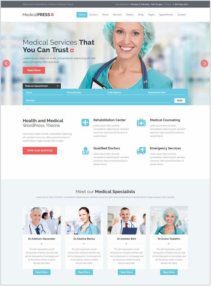 MedicalPress - Health and Medical WordPress PHP Theme
