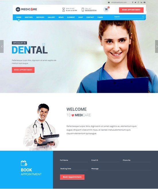 Medicare - Medical & Health HTML Template