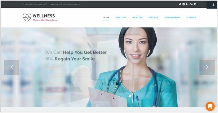 Medicine WP PHP Theme WELLNESS