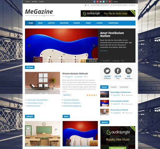 Megazine - Responsive WordPress Theme