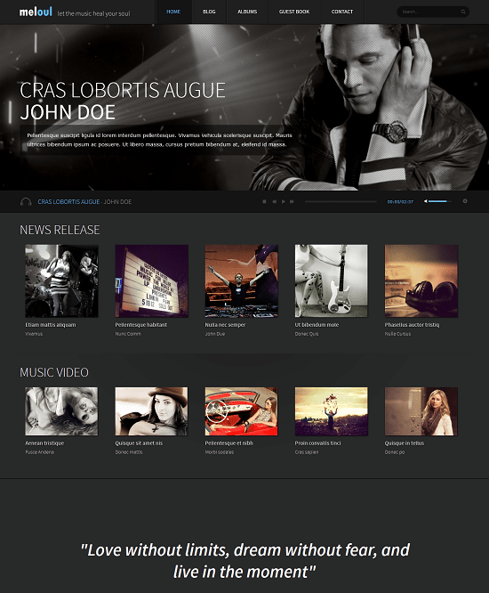 Meloul – Music Responsive Joomla Template