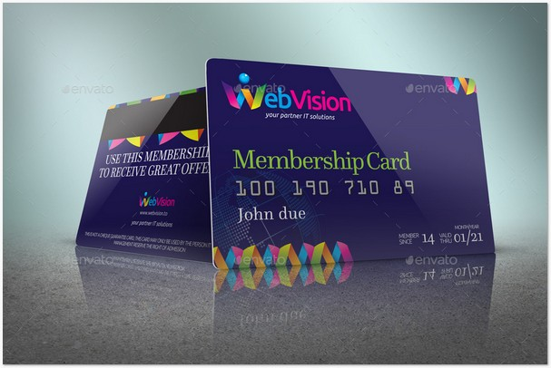 Membership Card Credit Card Mock Up