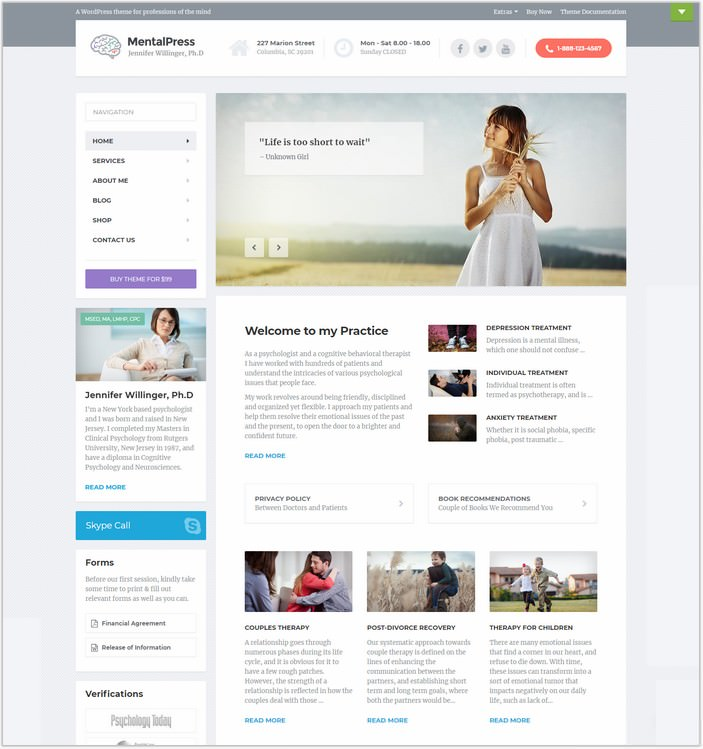 MentalPress - WP PHP Theme