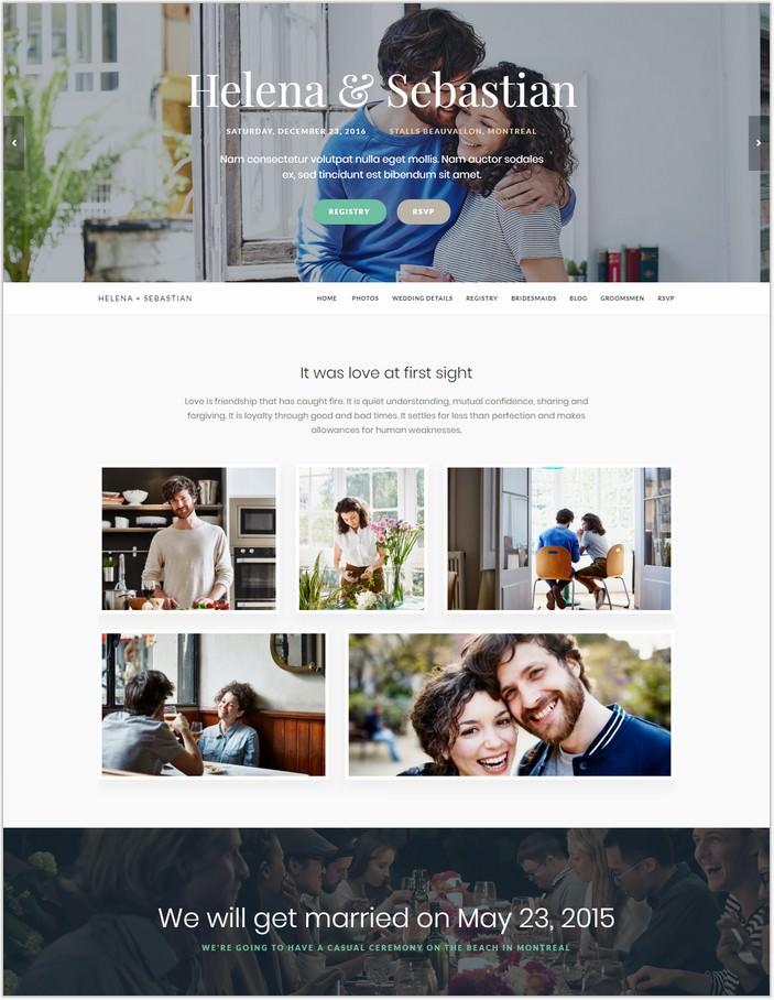 Meridian Wedding - PHP WordPress Theme