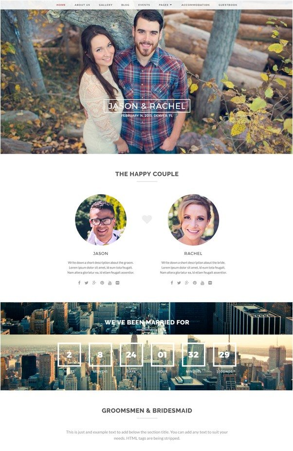 Merit – Responsive WordPress Wedding Theme