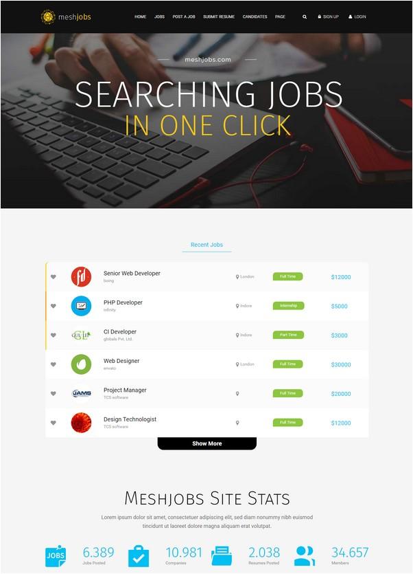 MeshJobs - A Complete Job Portal WordPress Theme