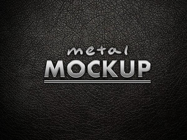 Metal logo mockup