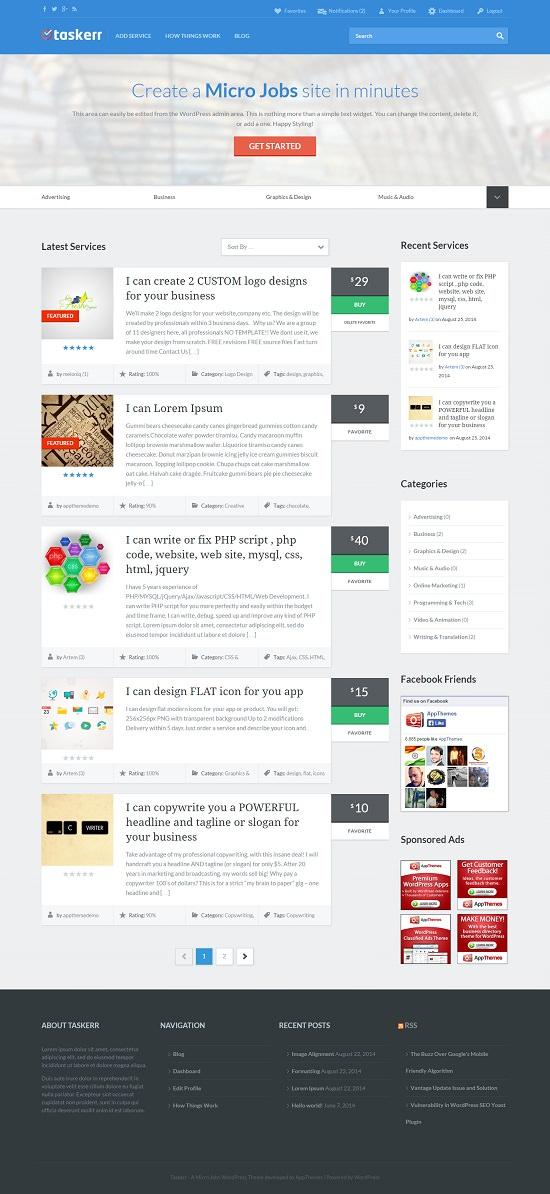 Micro Jobs WordPress Theme