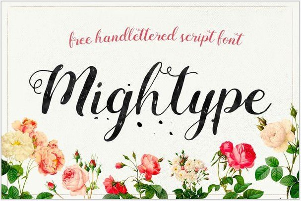 Mightype Free Handlettered Script Font