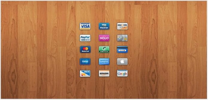 Mini Cards 15 Credit Debit Card Icons