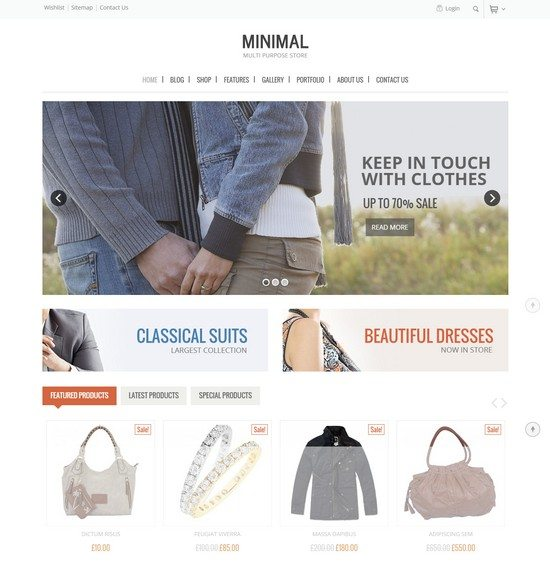 Minimal Multi Purpose - WooCommerce Theme