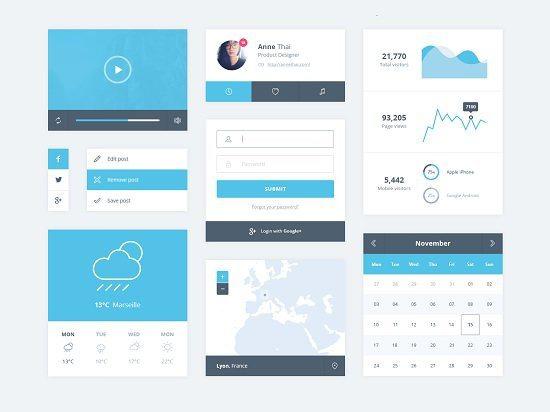 Minimal UI Kit PSD