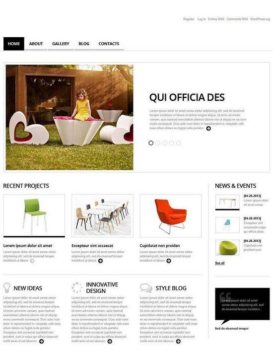 Minimalist Interior and Furniture WordPress Theme