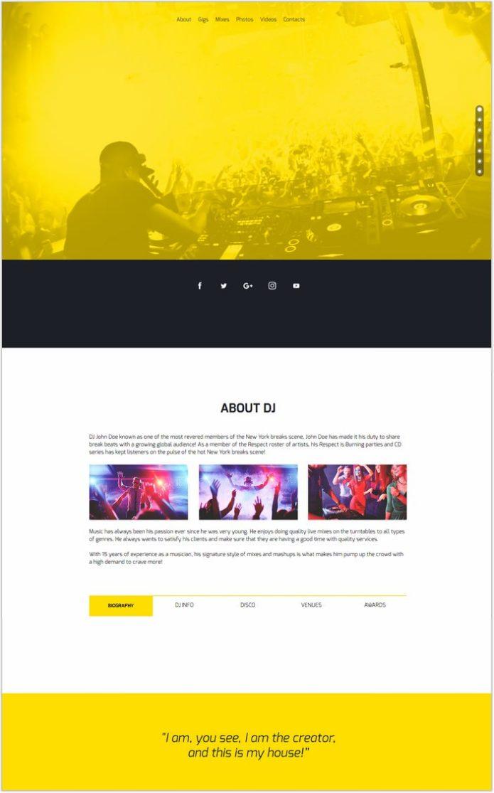 MixMaker - DJ Website Responsive Muse Template