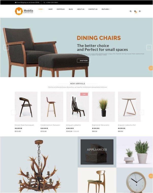 Mobilia - Furniture WooCommerce WordPress Theme