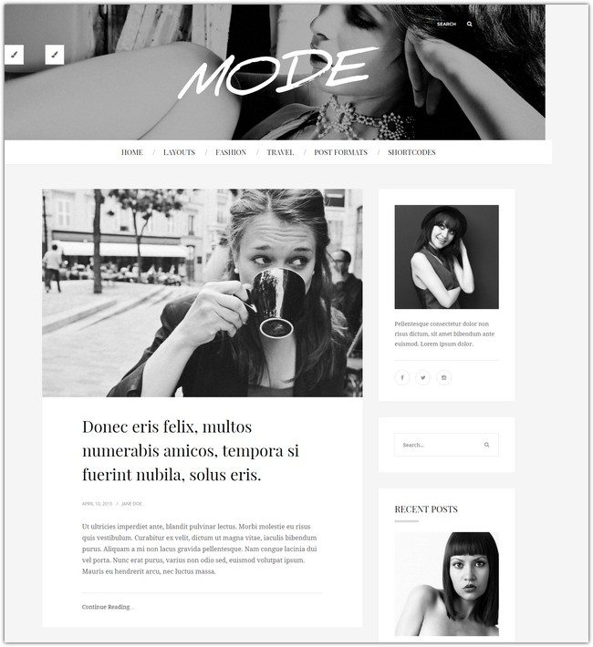 Mode Fashion Blog Theme