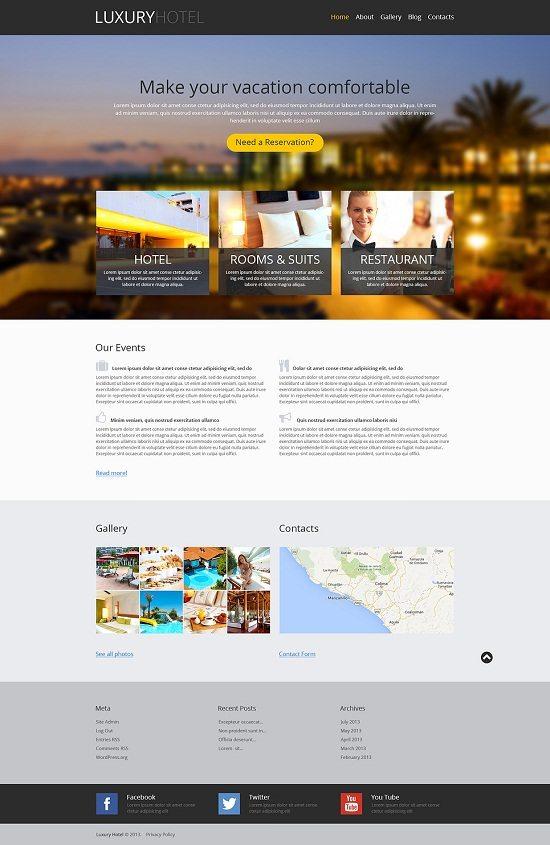 Modern Hotel Business WordPress Theme