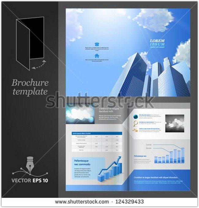 Modern business center Brochure template design