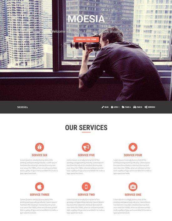 Moesia – Free One Page Business WordPress Theme