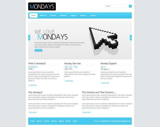 Mondays - Free Template