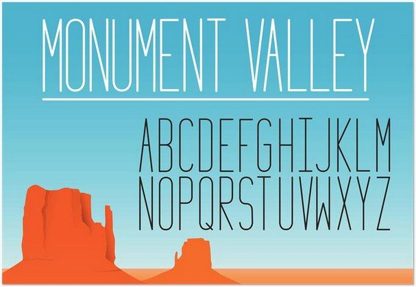 Monument Valley 1.2 font