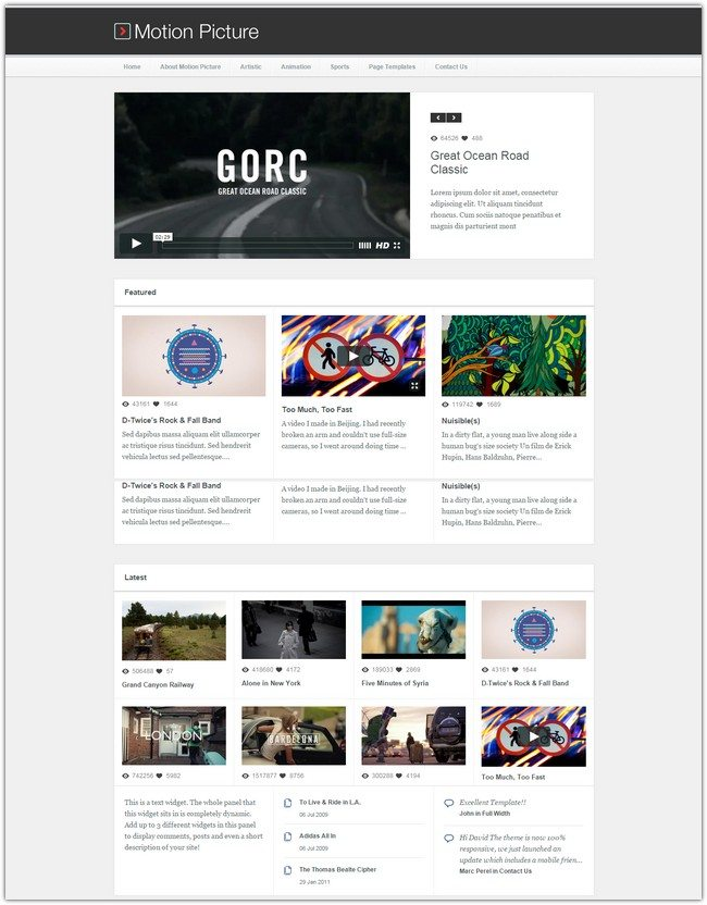 Motion Picture – Responsive WordPress Video Theme