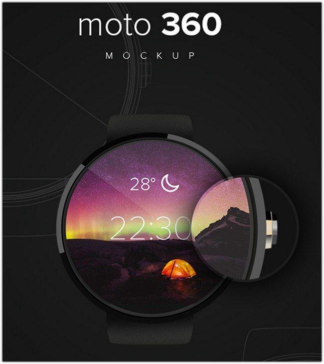 Moto360 Free Mockup