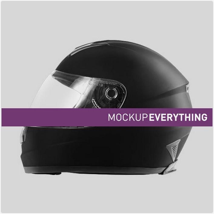 Motorcycle Helmet Mockup Template