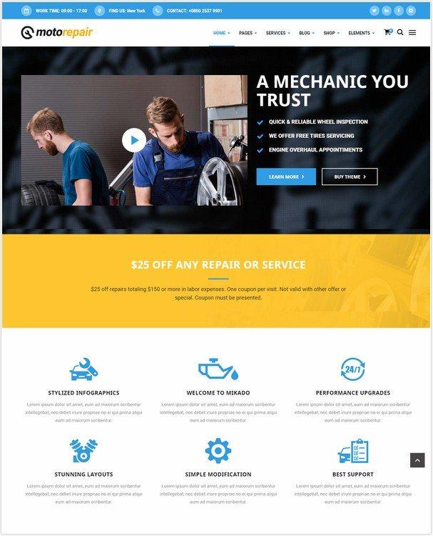Motorepair - A Professional Theme for Car Mechanics and Workshops