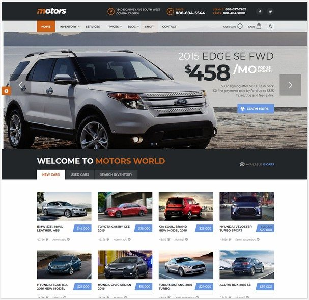 Motors - Automotive, Car Dealership, Vehicle, Boat, Bikes, Classified Listing WordPress Theme