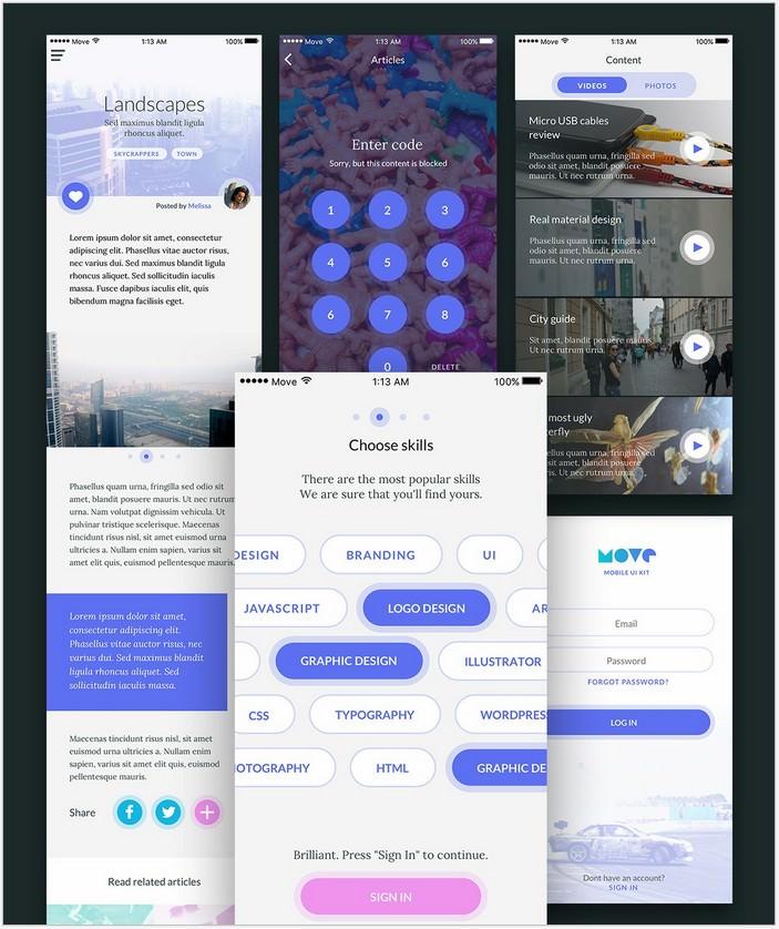 Move Mobile UI Kit