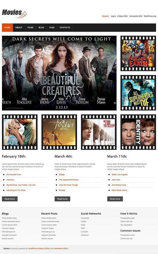 Movie Responsive WordPress Theme