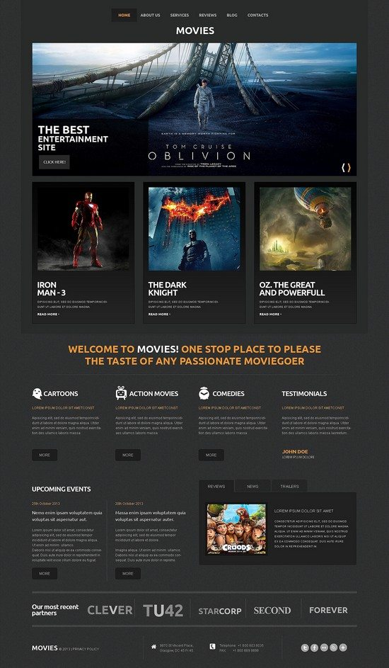 Movies Responsive WordPress Theme