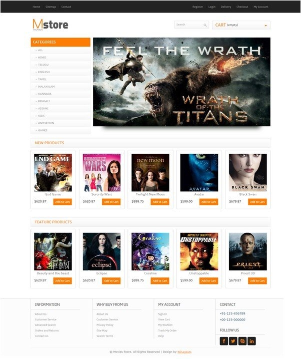 Movies Store online shopping Entertainment