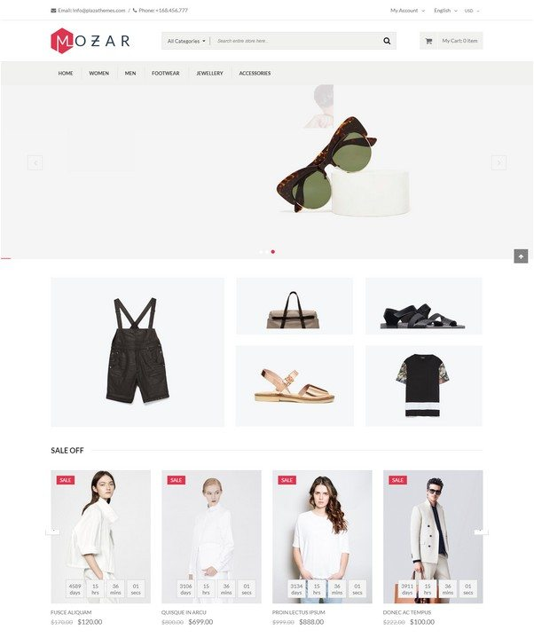 Mozar - Magento Clothing Theme