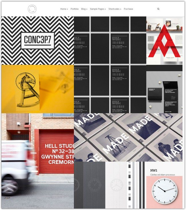 Mug Clean Creative Multipurpose Grid Portfolio