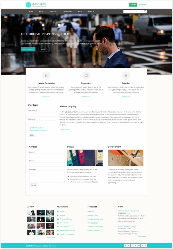 MultiPurpose Zymphonies Theme