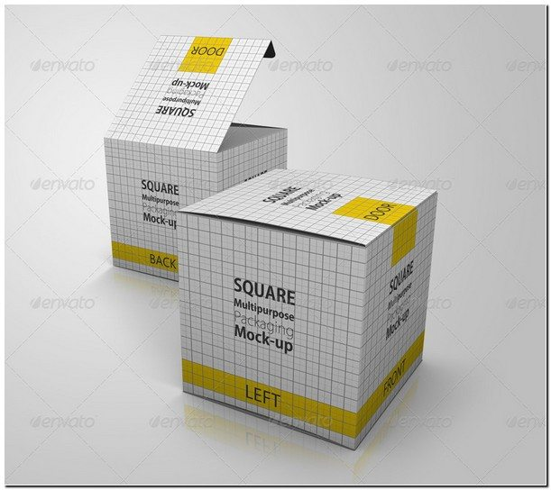 Multipurpose Square Package Box Mock up