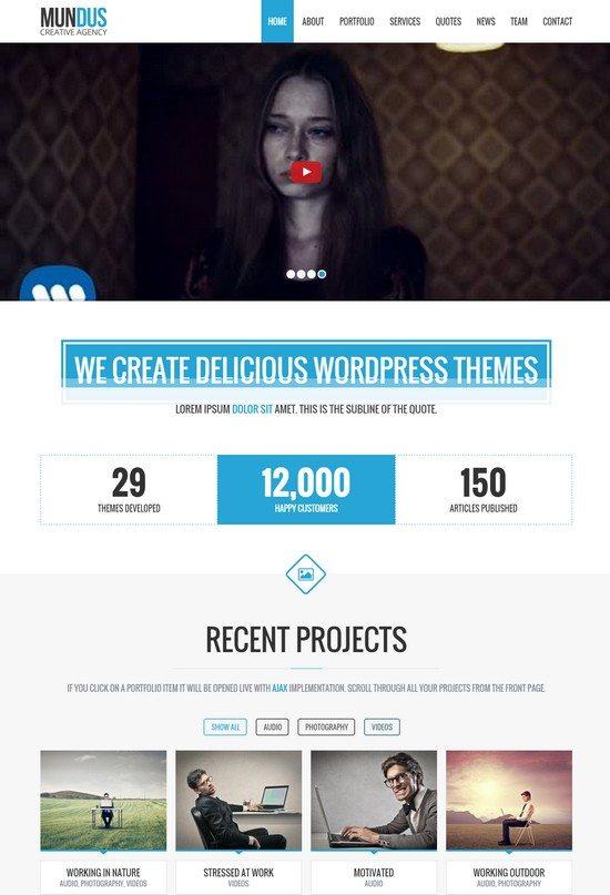 Mundus – Business One Page WordPress