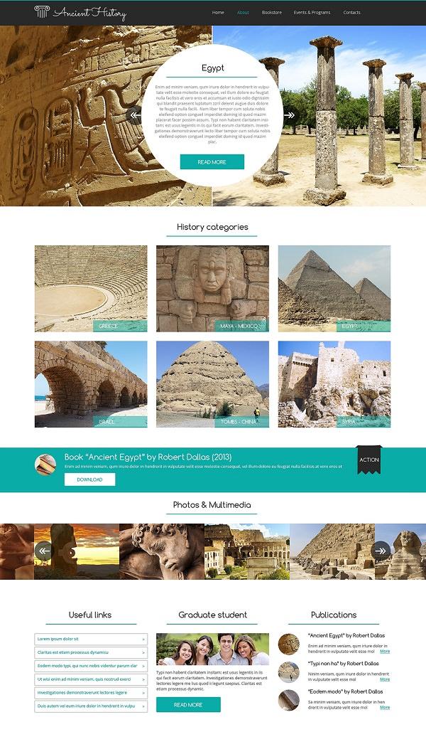 Museum Responsive Website Template
