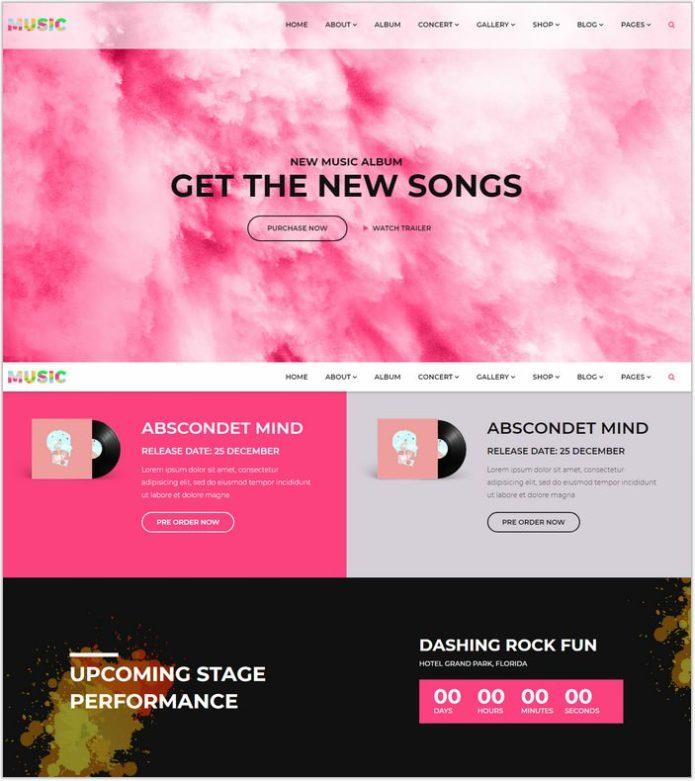 Music - A Fresh Band, DJ & Music Studio Template