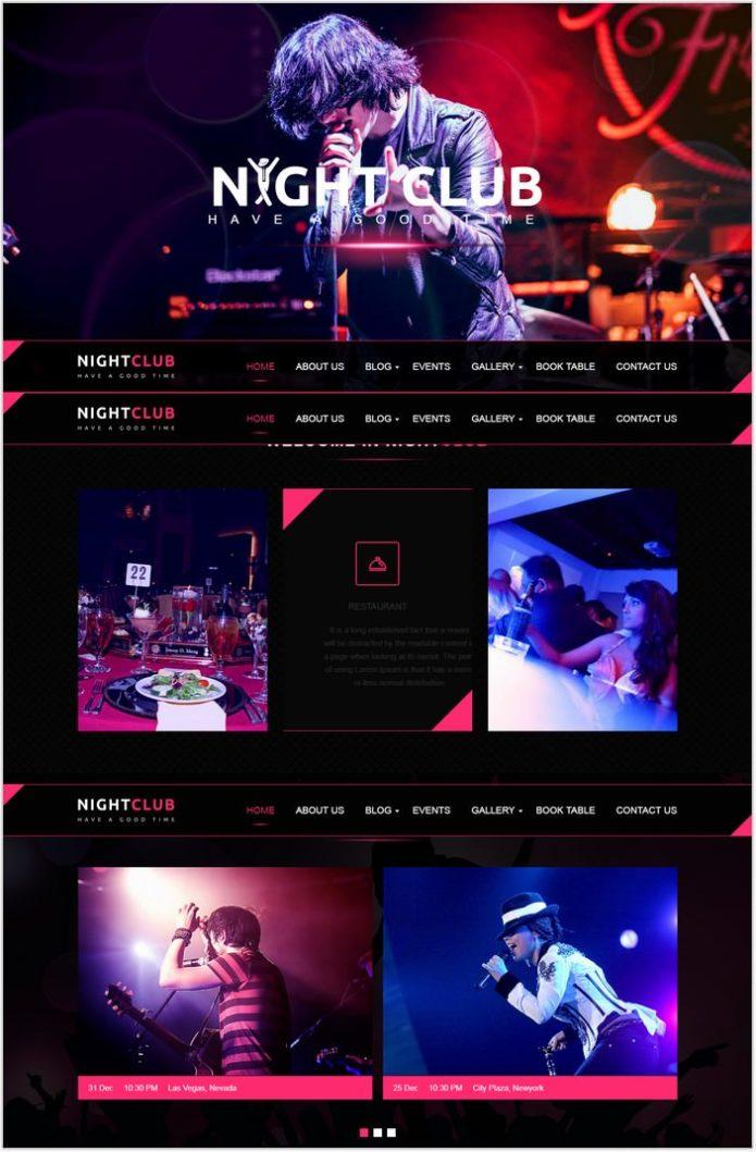 Music Club - Dj Website Template Rockon