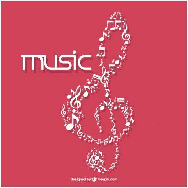 Music symbol vector Free Vector