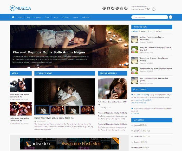 Musica- Free Magazine WordPress Theme