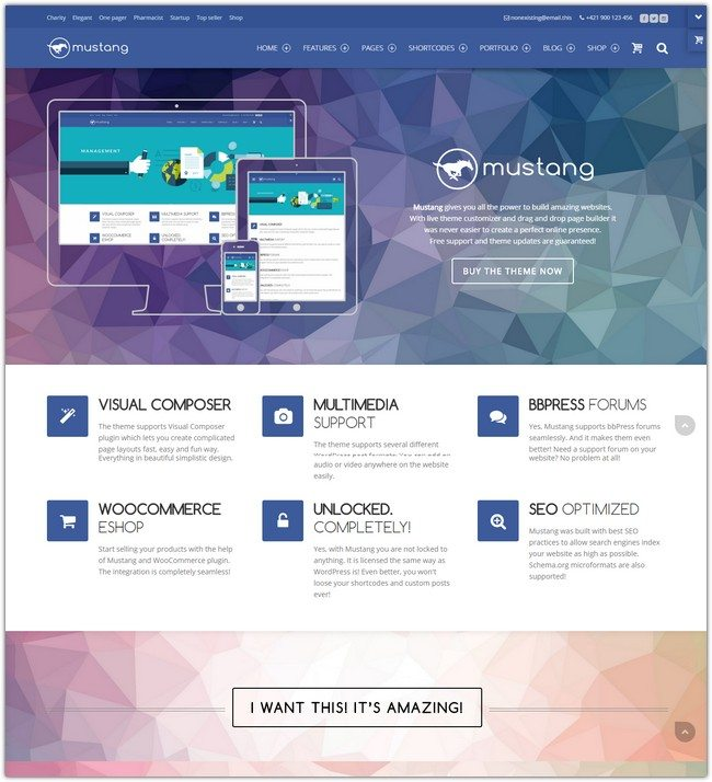 Mustang Multipurpose WordPress Theme