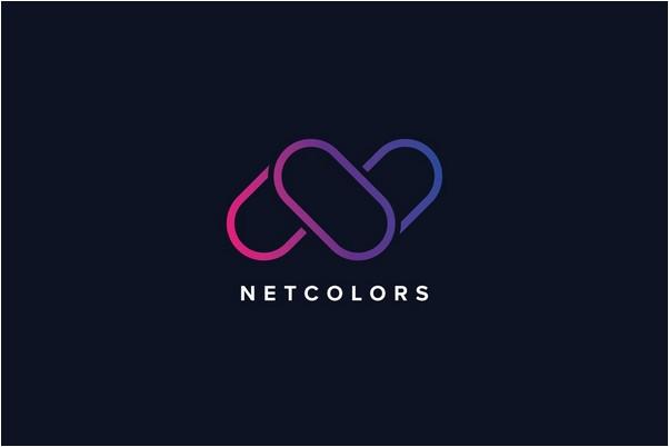 N Letter Colors Logo Template
