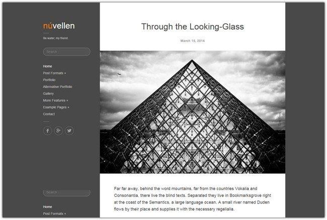 Núvellen Blog / Portfolio WordPress Theme