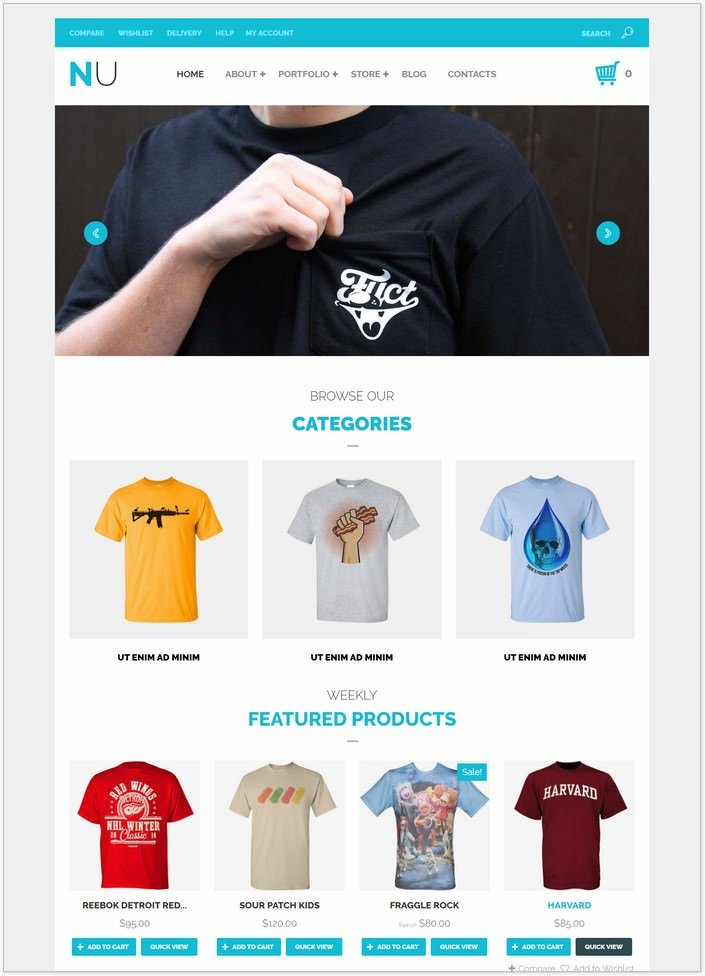 NU T-Shirts Fashion WooCommerce Theme