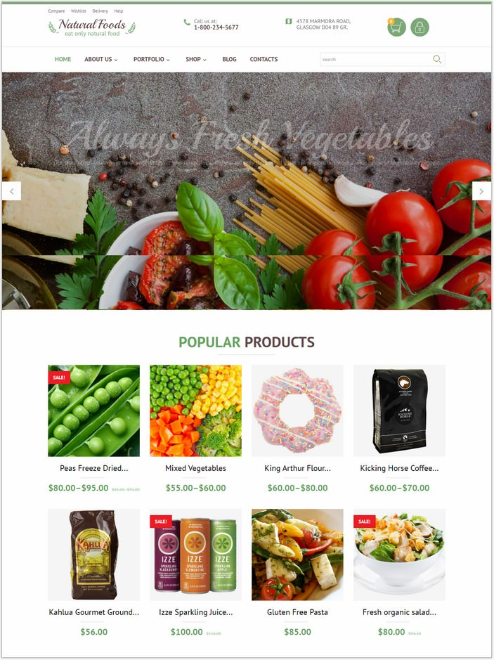Natural Foods WooCommerce PHP Theme